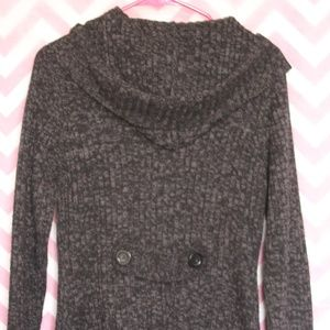 Carol Rose Sweaters - Carol Rose Charcoal Marled Hooded Sweater Size S